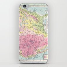 Physical Map of the United States iPhone Skin