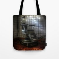 dentist Tote Bags featuring Dentist horror by Cozmic Photos