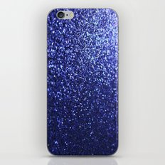 Royal Blue Glitter Sparkles iPhone Skin