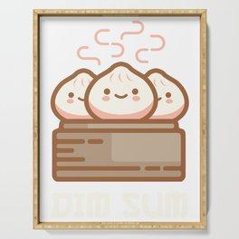 DIM SUM Funny Dumplings Asian Food Fan Gift design Serving Tray
