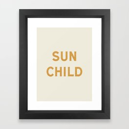 Sun child Framed Art Print