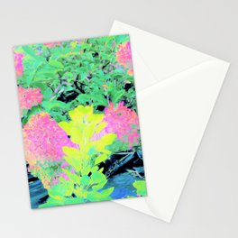 Fluorescent Golden Smoke Tree Garden Stationery Cards