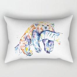 Red Panda - The Long Day Rectangular Pillow