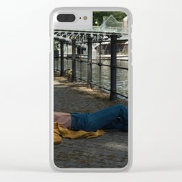 Wait in Berlin Clear iPhone Case
