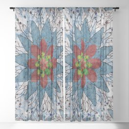 Marble Quilt Sheer Curtain