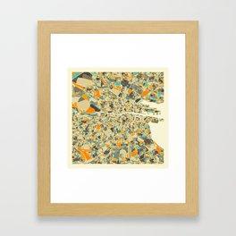 DUBLIN MAP Framed Art Print