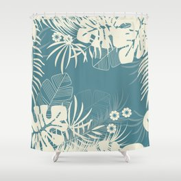 Tropical pattern 047 Shower Curtain