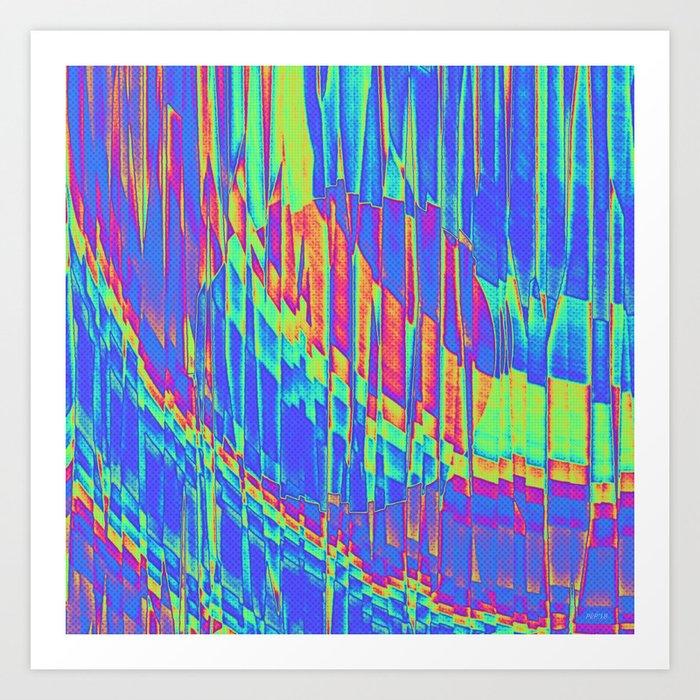 Iridescent Cosmic Rays Pop Art Art Print