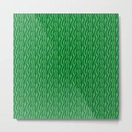 Pretty Green Zebra Pattern Metal Print
