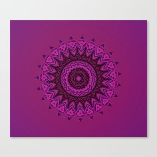 Deep purple mandala Canvas Print
