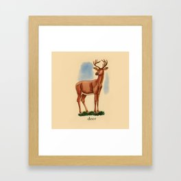 Deer me... Framed Art Print