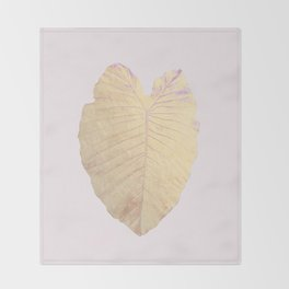 Gold leaf - heart Throw Blanket