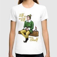 will ferrell T-shirts featuring Elf on and Elf on a Shelf by Patrick Scullin