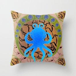 Octopus Nouveau  Throw Pillow