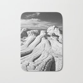 The Brain Rocks of White Pocket Bath Mat