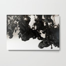 Ink #abstract #black Metal Print