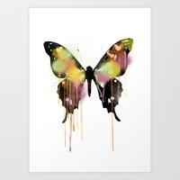 butterfly Art Prints featuring Butterfly by PandaGunda
