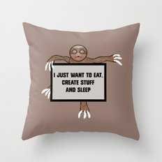 Eat, Create and Sleep Throw Pillow