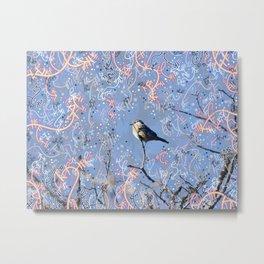 Little Bluebird in the Sun Metal Print