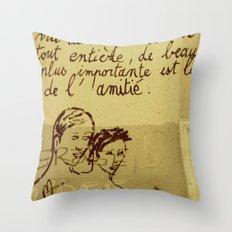 French Graffiti in Paris Throw Pillow