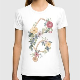 Stethoscope with Florals T-shirt