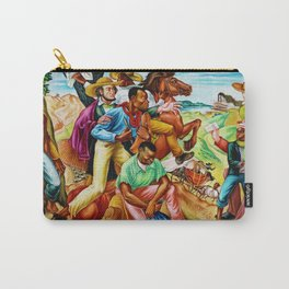"""African American Classical Masterpiece """"The Underground Railroad"""" by Hale Woodruff Carry-All Pouch"""