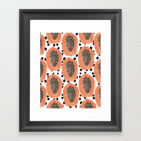 Bold Papayas Framed Art Print