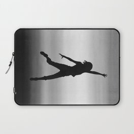 Body Movin - Touch the Sky B&W Laptop Sleeve