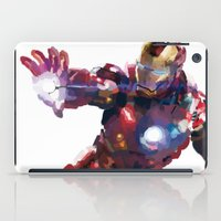 iron man iPad Cases featuring Iron man by Gary Reddin