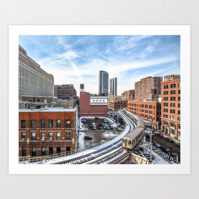 Chicago Curves  Art Print