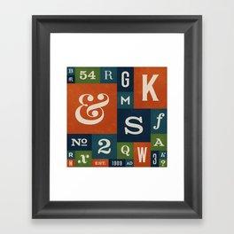 A Celebration of Typographic Form Framed Art Print