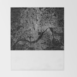 minneapolis map Throw Blanket