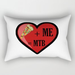 Pizza And Me Are MTB Rectangular Pillow