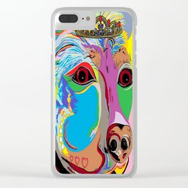 Lady Rottweiler Clear iPhone Case