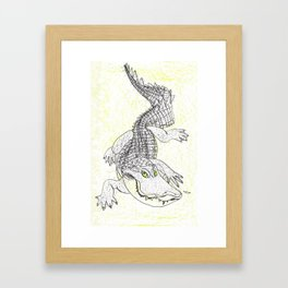 Smiling Gator Framed Art Print