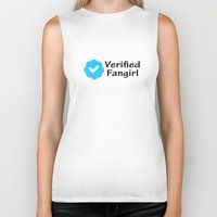fangirl Biker Tanks featuring Verified Fangirl by AliyaStorm