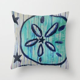 Nostalgic Sand Dollars Throw Pillow