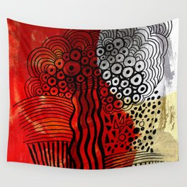 After the burn Wall Tapestry