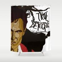 true detective Shower Curtains featuring True Detective by Vito Fabrizio Brugnola