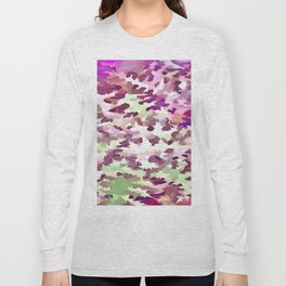 Foliage Abstract Pop Art In Ultra Violet and Fuchsia Pink Long Sleeve T-shirt