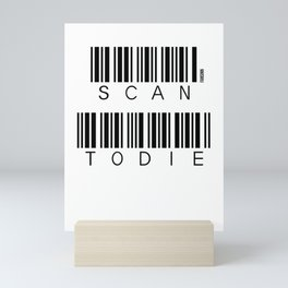 Scanning laser barcode dying funny gift Mini Art Print
