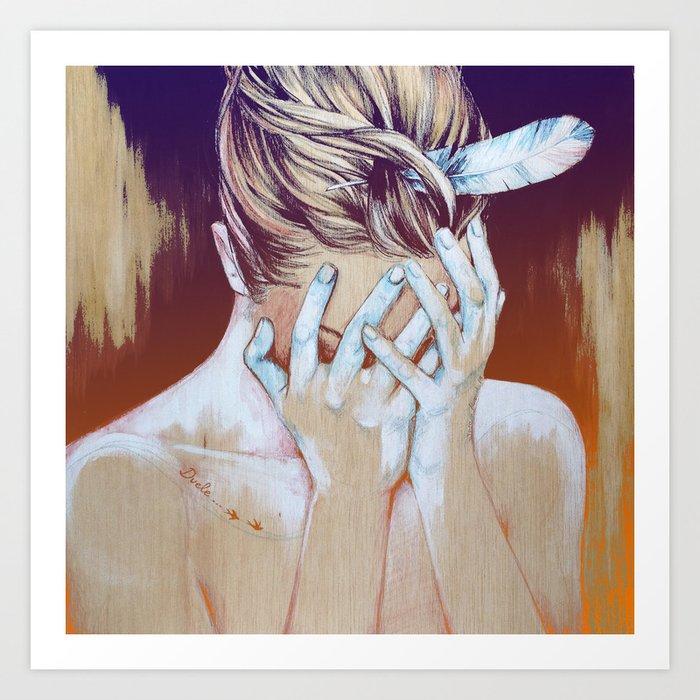 It hurts… (Duele) Art Print