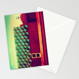 Abstract building Stationery Cards