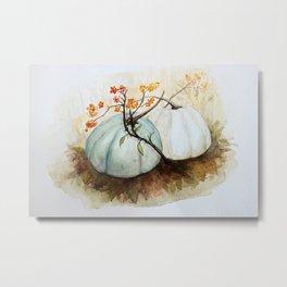 Pumpkin Patch - Watercolor Metal Print