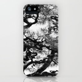 Tree of Japan (black and white edit) iPhone Case