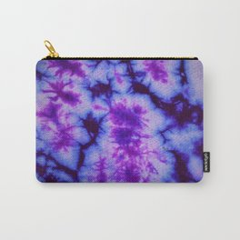 Tie Dye in Blue and Purple Carry-All Pouch