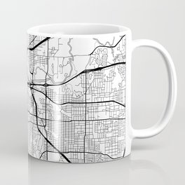 Fort Worth Map White Coffee Mug