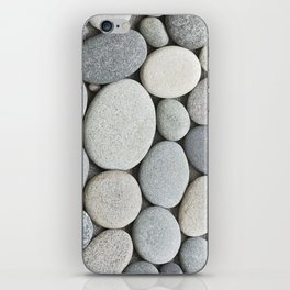 Grey Beige Smooth Pebble Collection iPhone Skin