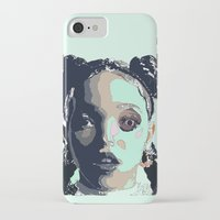 fka twigs iPhone & iPod Cases featuring FKA TWIGS LINE DRAWING by Happy as Flynn