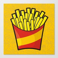 french fries Canvas Prints featuring French Fries by Sifis